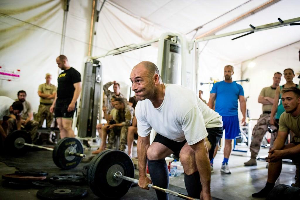 Andreas Althini kom på femte plats med totalt 477,5 kg lyfta. Foto: Anna Lindh/Försvarsmakten