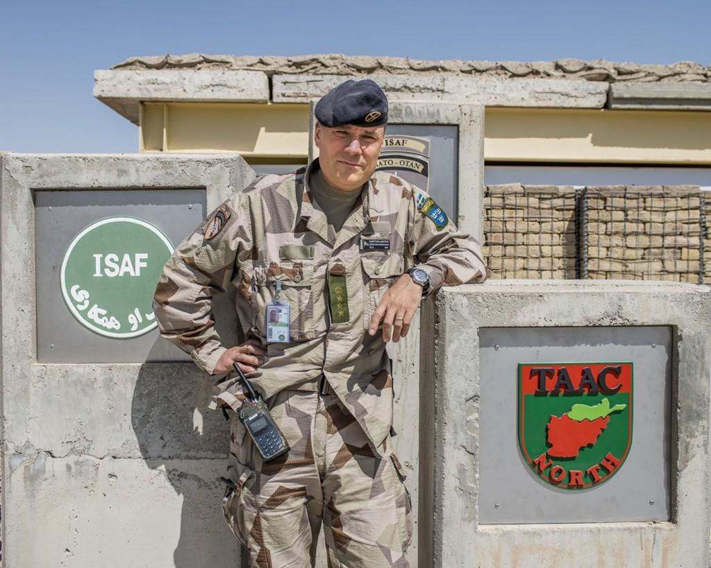 Överste Matthias Landström har varit ansvarig för Isafs operationer i norra Afghanistan sedan i mars i år. Foto: Carl Mårtensson/Försvarsmakten
