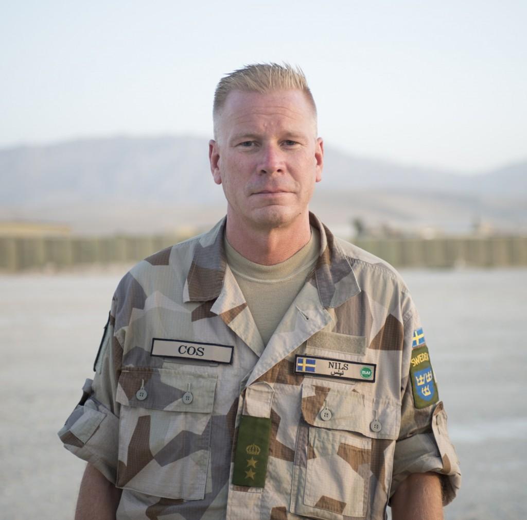 Chief of Staff (COS) Nils Johansson är överstelöjtnant och arbetar till vardags som stabschef på I 19 i Boden. Foto: Carl Mårtensson/Försvarsmakten
