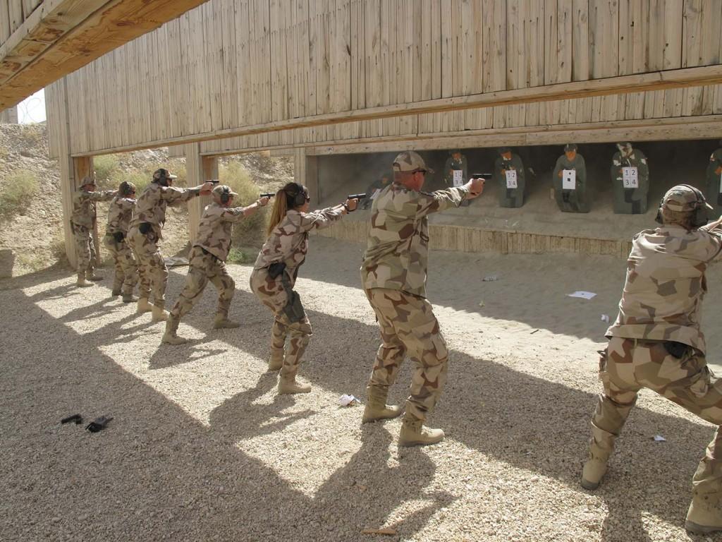Förmiddagen gav möjlighet till bra repetitionsövningar. Foto: Försvarsmakten