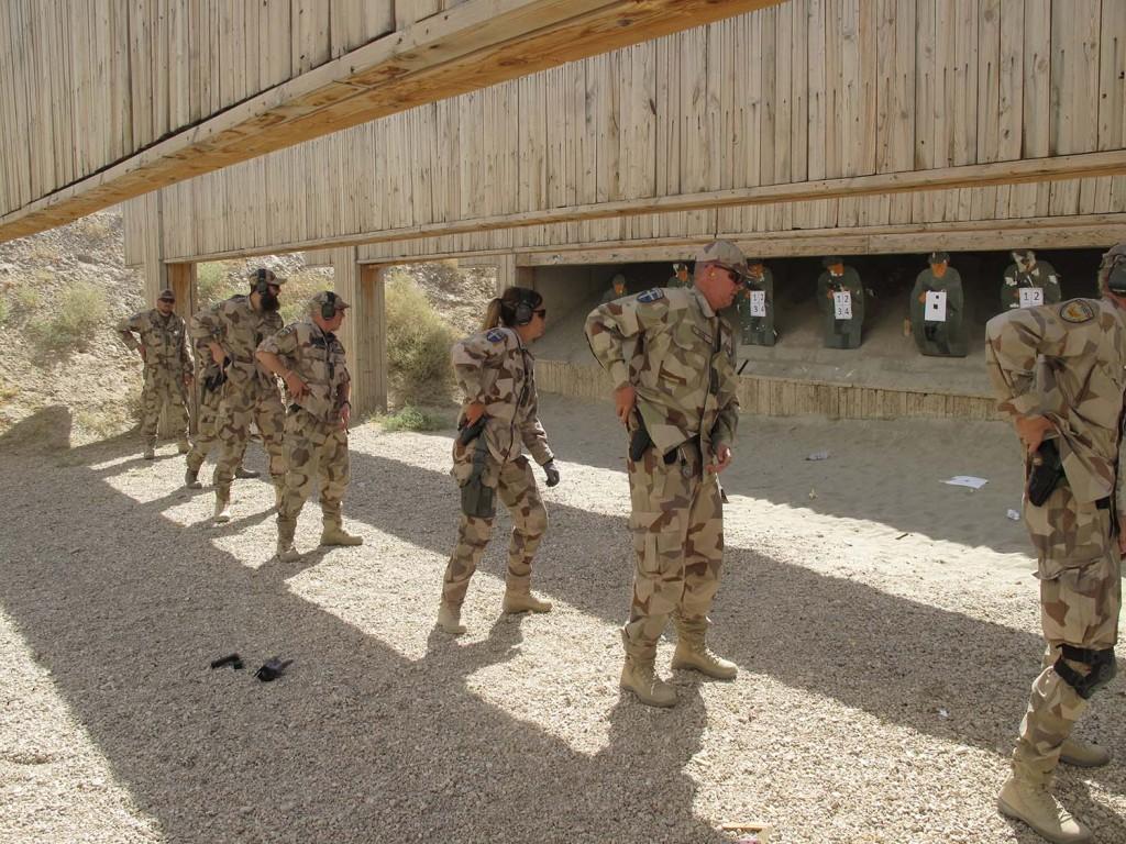 I väntan på startsignal för en av övningarna. Foto: Försvarsmakten