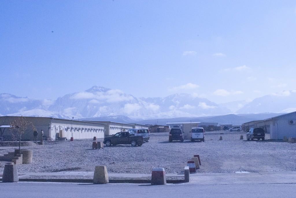 Sedär, de vackra bergen fanns kvar! Foto: Försvarsmakten/Carin Bergensten