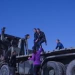 Lastbilsklättring. Foto: Försvarsmakten/Carin Bergensten