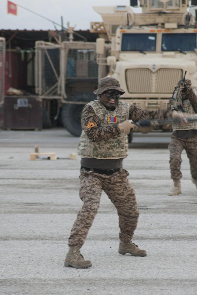 Bara uppsynen gjorde att man nästan blev rädd... Foto: Försvarsmakten/Carin Bergensten