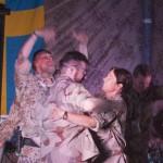 På scen: Campens Drottning Lillemor! Foto: Försvarsmakten