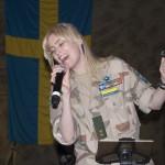 Lindas fantasiska röst och utstrålning fick många på fall. Foto: Försvarsmakten/Carin Bergensten