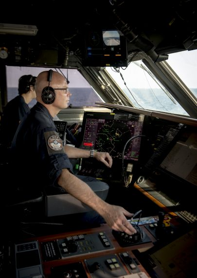 Bryggan på HMS Nyköping.
