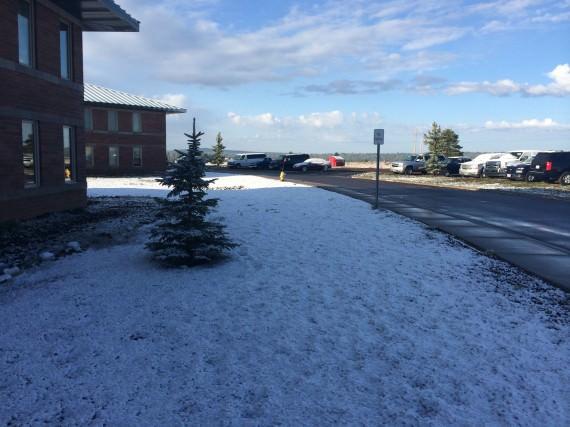 Snö i Flagstaff