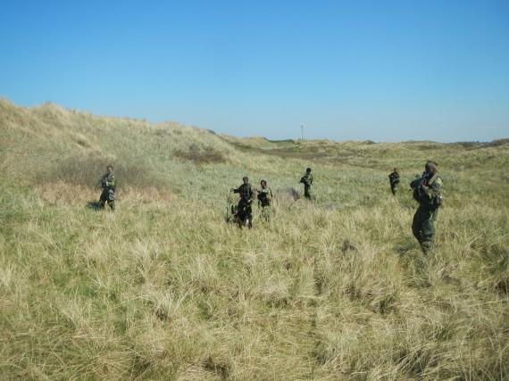 Öppen terräng och stadiga vindar ger optimala förutsättningar för hunden och patrullen