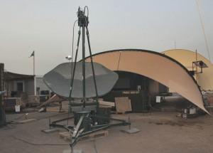 Djibouti: En något ovan vinkel på Satkom för oss norrifrån