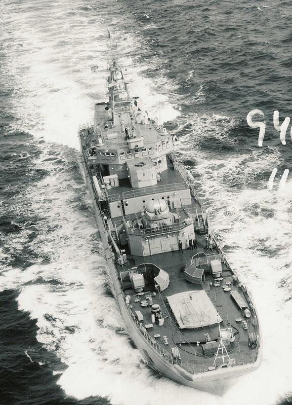 Bild tagen 1994 från SF37 över internationellt vatten.