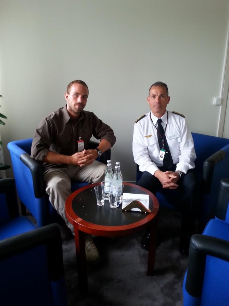 Flygtaktisk Chef Gabor Nagy och Flygledare Johan Andersson