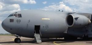 SAC 3 - En av Heavy Airlift Wings tre Boeing C-17 Globemaster III