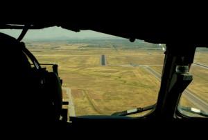 Inflygning till bana 35 Assault, Altus AFB, Oklahoma.