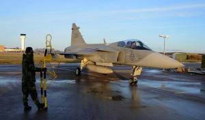 Ovana vid vinterväder hade piloterna turen att få bra sikt vid sina soloflygningar.  Foto: John Lidman