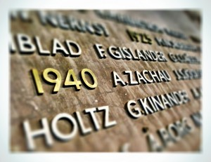 Anders Zachau är ihågkommen i Flygvapnets Minneshall i ämbetsbyggnaden Tre Vapen.
