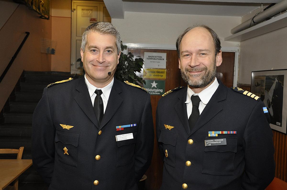 Generalmajor Mats Helgesson och överste Anders Persson.