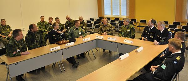 Cheferna fick ta del av en presentation om CJSE 16 i Uppsala