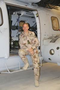 Harri Larsson, avgående CO SAE ISAF MEDEVAC