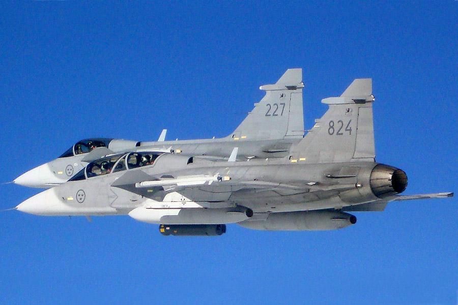 JAS 39C Foto: Försvarsmakten-Luftstridsskolan