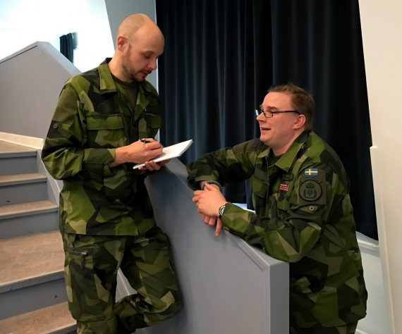 Tobias Gustafsson, Militärhögskolan Halmstad och Markus Kilander