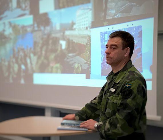 Magnus Einarsson, Militärhögskolan Halmstad