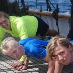Kockarna Kreü, Jonsson och Gummesson tränar.