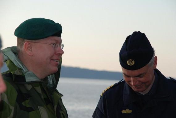 Marinattachén och Chefen Sjöstridsskolan
