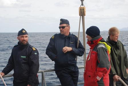 Dr Edman, 2.O Stuxgren, 1.Sk Stövring och Berendt på halvdäck.