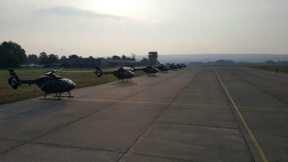 Morgonflygning med full flotta