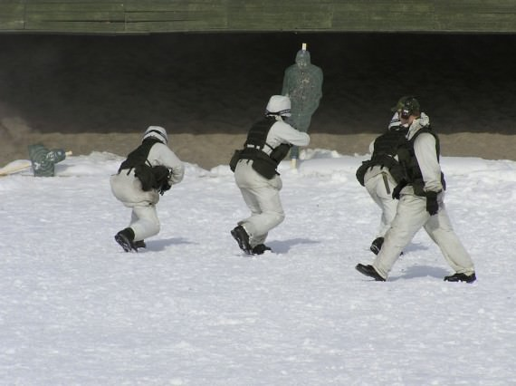 Skjutträning. Foto: Arméns Jägarbataljon