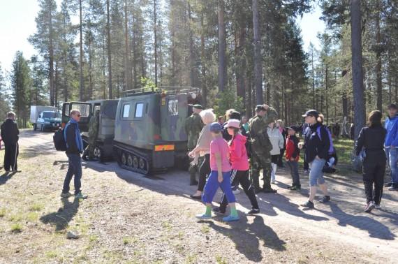 Bandvagn 206 var ett uppskattat inslag som lockade passagerare av alla åldrar. Foto: Arméns jägarbataljon