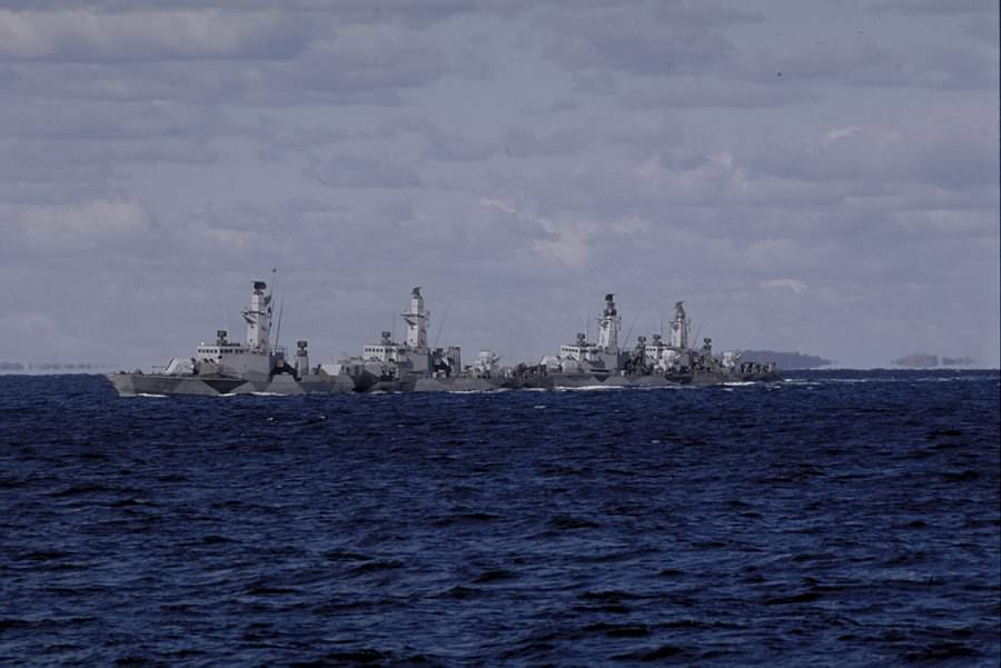 Korvetterna HMS Gävle, HMS Kalmar, HMS Sundsvall, HMS Göteborg.