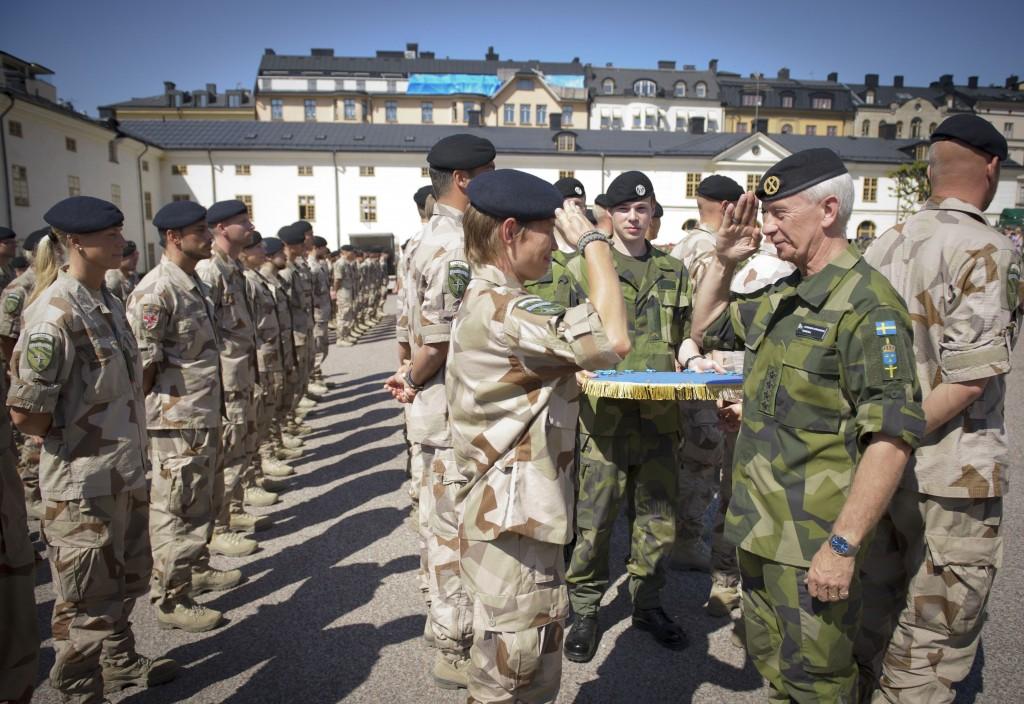 Medaljceremoni på Armémuseum för FS26 vid hemkomsten från Afghanistan. Foto: Niklas Ehlén/Combat Camera