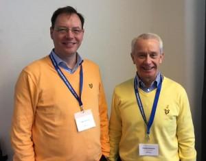 Vi la ner mycket tid på att matcha våra tröjor. En typisk rikskonferens i Sälen.