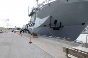 HMS Belos i Visby hamn för Almedalsveckan.