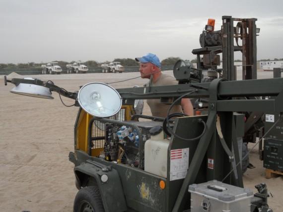 Reparation av belysningsmast