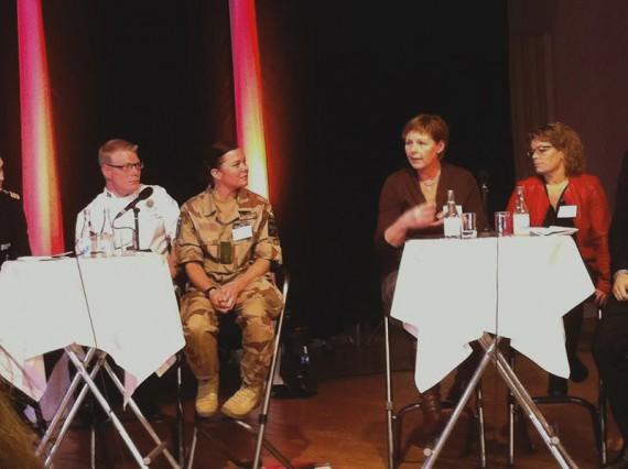 Några av deltagarna i den avslutande paneldebatten var Joakim Hafström från 3.sjöstridsflottiljen och Plutonchef Nilsson från P7.