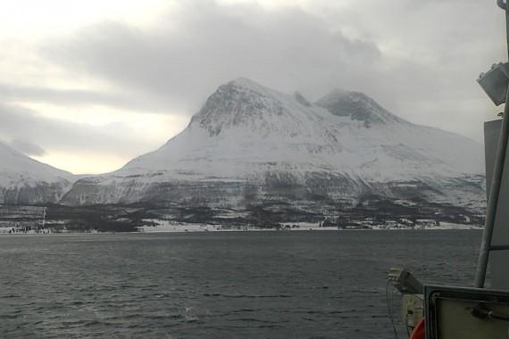 På väg mot Tromsö.