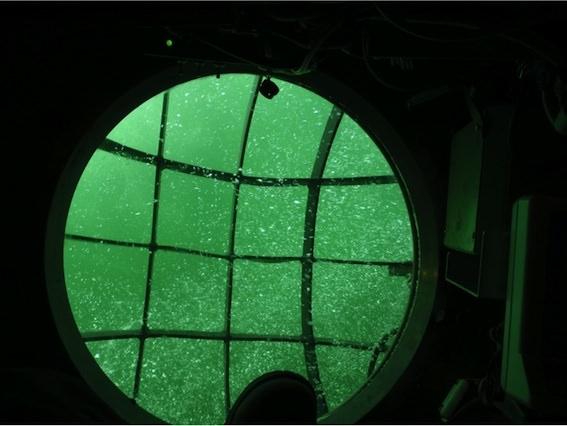 Bild tagen från URF (ubåtsräddningsfarkost) vid tidigare övning