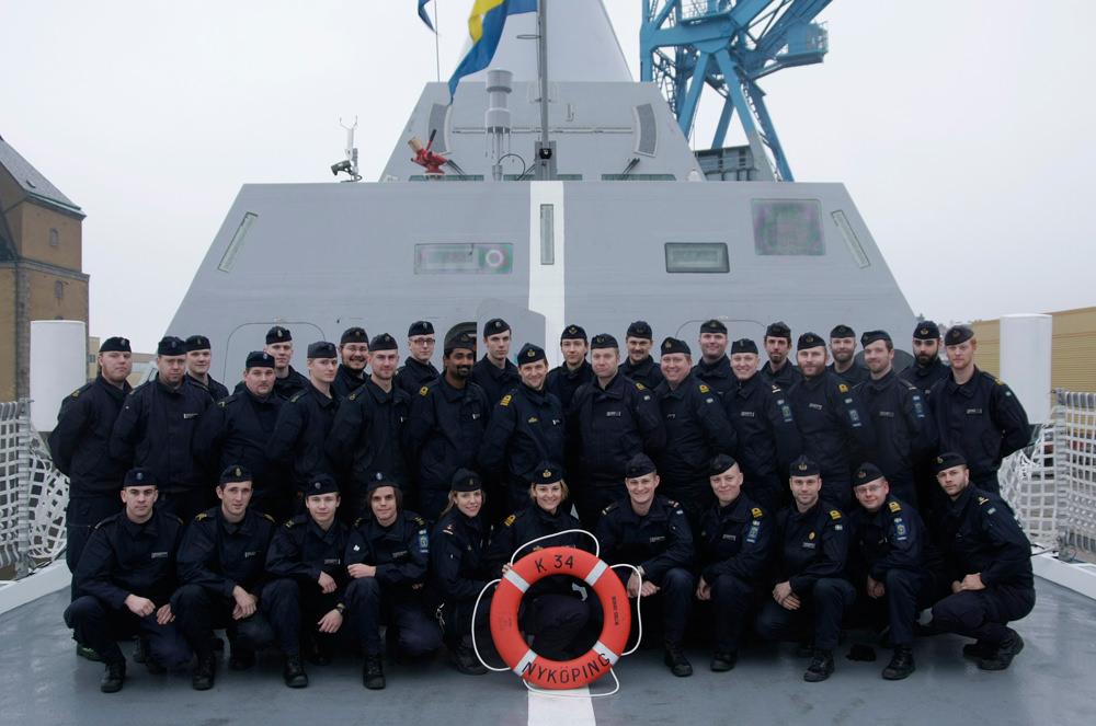 HMS Nyköpings besättning.