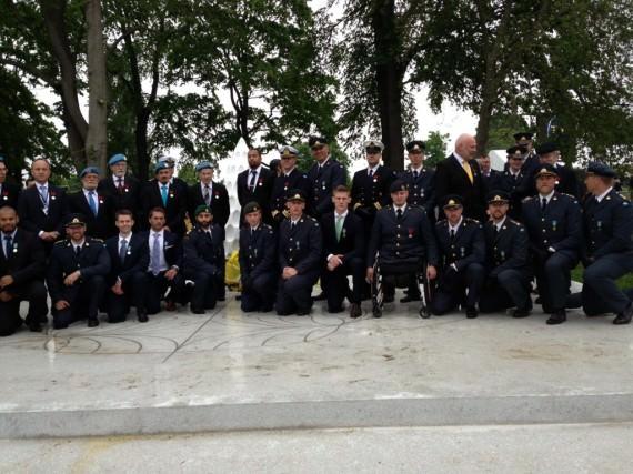 Av H.M. Konungen medaljerade veteraner den 29 maj 2013