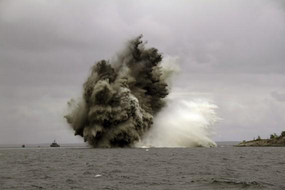 Genom minvapnet kan man skapa säkra sjövägar