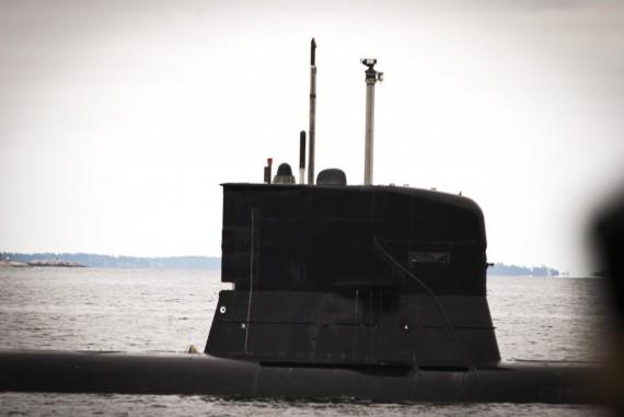 Periskopförevisning med HMS Södermanland