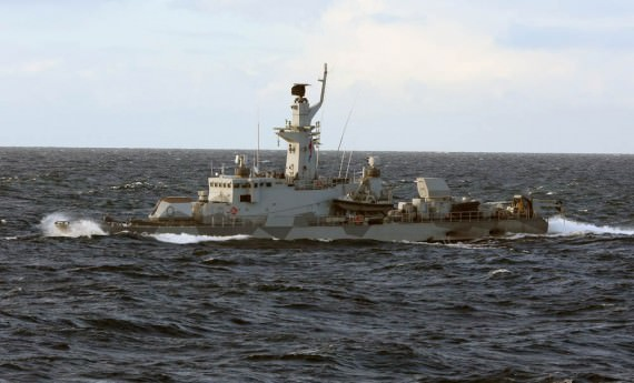 HMS Sundsvall under ubåtsjakt.