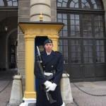 Tobias Nydahl från 206.underhållskompaniet står post