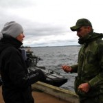 Plutonchefen kapten Christoffer Blohm, svarade på medias frågor