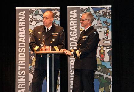 Marinchef Jan Thörnqvist och marintaktisk chef Ola Truedsson inledningstalar