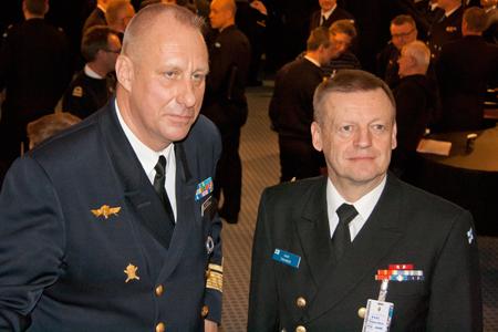 Jan Thörnqvist och Kari Takanen, Sveriges respektive Finlands marinchefer
