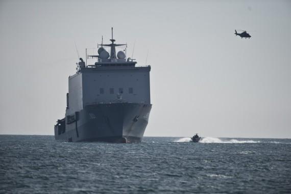 HNLMS Johan de Witt är vårt hem till i början av maj. Foto: Mattias Nurmela/Försvarsmakten